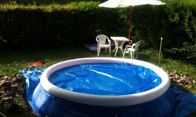 piscine autoportee pente